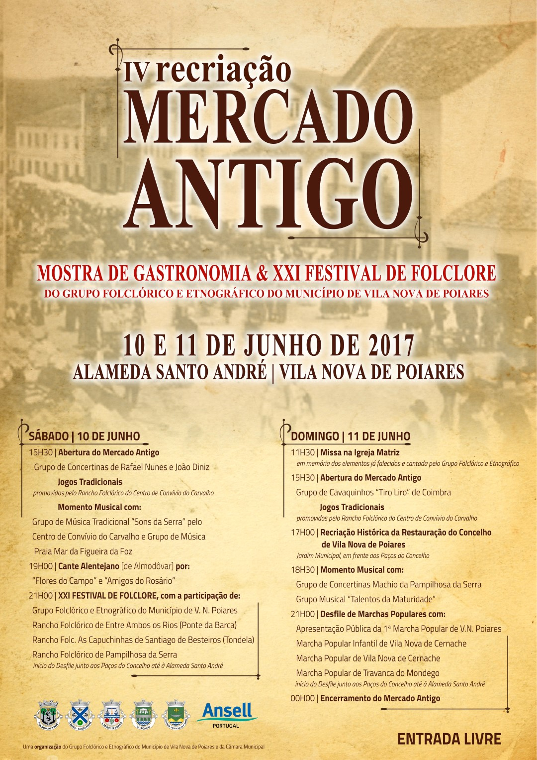 Cartaz Mercado Antigo 2017 Large